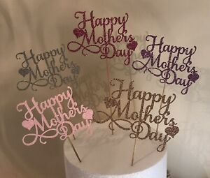 Happy Mothers Day Cake Topper Flower Topper