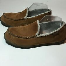 Columbia Men's Shearling Leather Slippers Size 7 GUC