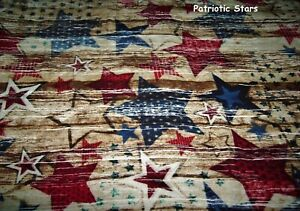 "Patriotic Stars-40"" X 55""-Handmade-Flannel Quilts-Made in USA by MJ Quilts"
