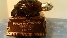 Vtg 1971 Avon Treasure Turtle Decanter-Brown- Empty/Original Box-Free Shipping