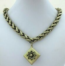 LOFT ANN TAYLOR STATEMENT CHAIN NECKLACE BULKY CHAIN WITH DROP