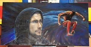 "Khabib Nurmagomedov The Eagle 36""x72"" Original Oil Painting- Artist Matt Holton"