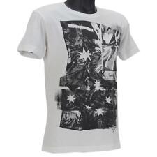 Oakley Flag T-Shirt Size M Medium White Australia Mens Slim Fit Cotton Tee