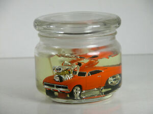Muscle Machines Gel Candle With 1968 Dodge Charger 69 Mopar Drag Car 1:64