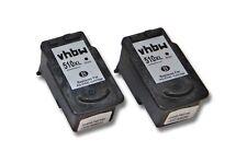 2x CARTUCHO TINTA negro para CANON PG-510 Pixma MP490