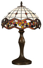 Vine Design Modern Tiffany Table Desk Lamp Light Stained Glass Shade NEW