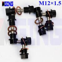 Engine Magnetic Oil Pan Drain Bolt Plug Kit M12X1.5 Crush Washer 10Ps B