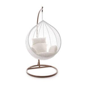 Medium-  Brand New Outdoor Swing Hanging Egg/ Pod Chair - Black Wicker indoor