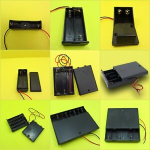 Plastic Battery Holder Slot Covered with ON-OFF Switch/Open Cover + Wire