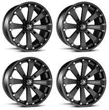 4 ATV/UTV Wheels Set 14in MSA M20 Kore Black 4/156 0mm 550