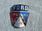 1950 1951 Ford Custom Deluxe Crestliner Convertible NOS Hood Emblem