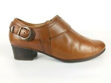 Gabor Brown Leather Block Heel Ankle Boots Uk 4