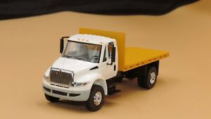 First Gear Custom white/yellow International flatbed truck new no box 1/50
