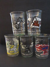 Tom & Jerry jelly jar glass Welch's roller skate football surf kite dance movie
