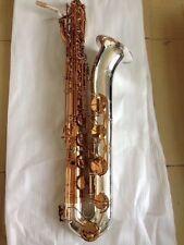 Professional Eb Baritone Saxophone nickel +Gold body Gold Key Low A +case