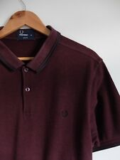 Fred Perry burgundy polo s/sleeve shirt/top   XL   Slim fit