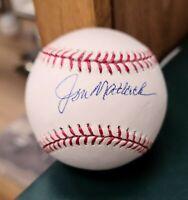 JON MATLOCK NEW YORK METS SIGNED AUTOGRAPHED OFFICIAL MAJOR LEAGUE BASEBALL JSA