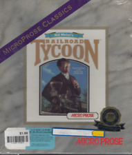 "Sid Meier's Railroad Tycoon Microprose Classics 5"" & 3.5"" Discs Sealed & New"