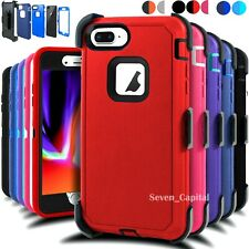 For iPhone 6 6s 7 8 Plus Protective Shockproof Rugged Hard Defender Cover Case
