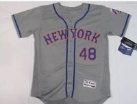 Jacob Degrom New York Mets Majestic Flex Base Jersey Gray $300 Mens M-2XL