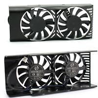 Black Dual Fan Cooling Fan Graphics Card Cooler for MSI GeForce GTX 1050 2GT LP