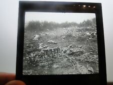 Vintage Original Zeppelin Airship Crash Site Glass Slide Photographic Image