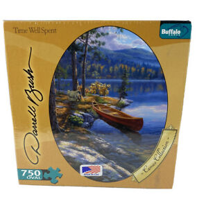 Buffalo Games Darrell Bush - Time Well Spent -750 Piece Oval Jigsaw Puzzle - New
