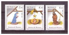 MONACO . N° 1957/1959 .3 VALEURS   NOEL      NEUVES  **. SUPERBE