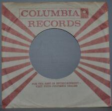 "2x 45 rpm COLUMBIA brown sunburst company sleeve LOT original record sleeves 7"""
