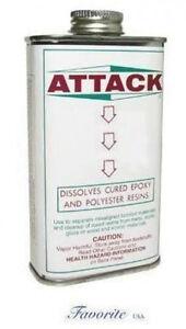 ATTACK EPOXY RESIN GLUE REMOVER ADHESIVE DISSOLVING LIQUID SOLVENT CAN