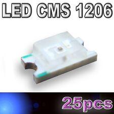 105/25# LED CMS 1206 bleu 280mcd - SMD blue - 25pcs