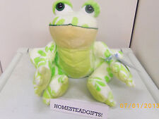 Flower Frog full size 7in Webkinz plush pet with sealed unused code HM703