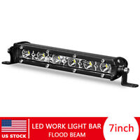 7in 18W LED Work Light Bar Flood Lamp Offroad Driving Slim Fog 4WD SUV Truck US