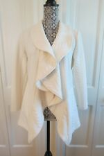 Stylish Sara Campbell Ivory Cabled/Textured Jacket – Small – NWOT - $260