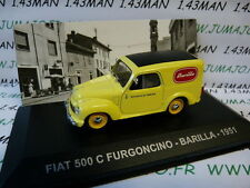 1/43 IXO Altaya Véhicules d'époque ITALIE : FIAT 500 C furgoncino BARILLA 1951