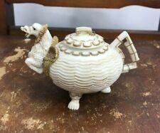 Nini Signed Miniature Dragon Teapot Trinket Box Dish with Lid
