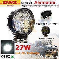 10 X 27 W Redonda 9 Led Luz Lámpara de trabajo Offroad Auto barco 4WD ATV 10-30V
