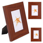"""3 x Solid Picture Frame in Wood Look for 1 Photo 10 x 15 cm """" Woods """" in Brown"""