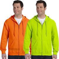 Gildan ANSI High Visibility Full-Zip Hooded Sweatshirt Safety Colors -18600