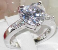 Unbranded White Gold Plated Heart Costume Rings