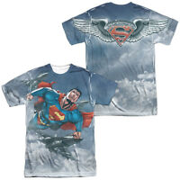 Superman IN FORMATION 2-Sided Sublimated All Over Print Poly T-Shirt