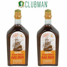 CLUBMAN PINAUD Virgin Island Bay Rum Men After Shave Cologne 12 oz 2 x BB-402100