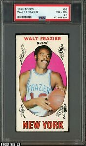 1969 Topps Basketball #98 Walt Frazier Knicks RC Rookie HOF PSA 4.5 VG-EX+