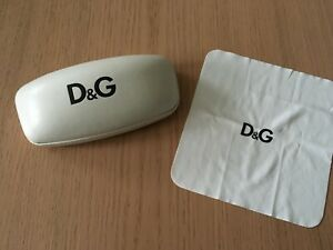D&G DOLCE AND GABBANA GLASSES CASE SPECTACLES HARD CASE & CLOTH