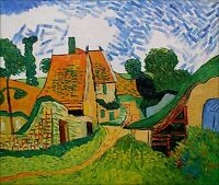 Hand Painted Oil Painting Repro Van Gogh Village Street in Auvers 20x24in