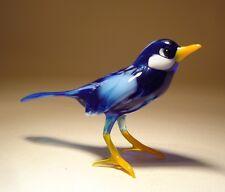 """Blown Glass Figurine """"Murano"""" Art BLUE Bird Bluebird"""