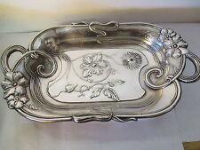 Plat creux /corbeille, ancien ART NOUVEAU en métal argenté