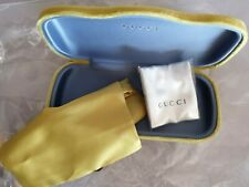 NEW GUCCI GREEN VELVET AUTHENTIC CASE SUNGLASSES/ CLEANING CLOTH