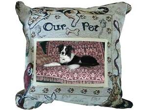 OUR PET Photo Memorial Tapestry Accent Pillow Dog Cat Any Pet