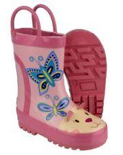 Chaussures roses en caoutchouc pour fille de 2 à 16 ans, pointure 28
